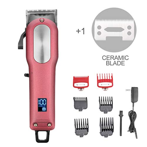 WMARK Cordless Rechargeable Hair Clippers Set Hair cutter LED display Professional Super Cutting Power ()