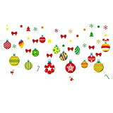 Fashionhe 2019 Merry Christmas Sticker Household Room Wall Sticker Mural Decor Removable Decal (Multicolor,Q)