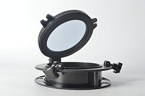 Amarine-made-Boat-Yacht-Round-Opening-Portlight-Porthole-10-Replacement-Window-Port-Hole-ABS-Clear-Tempered-Glass-Black