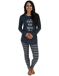 Women's Sleepwear Knit Longsleeve Top and Leggings Pajamas PJ Set