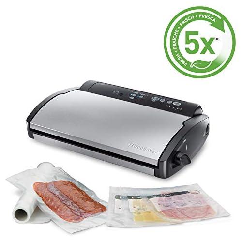 chollos oferta descuentos barato Food Saver V2860 Envasadora al vacío 2 tipos de envasado 3 velocidades color negro y plata