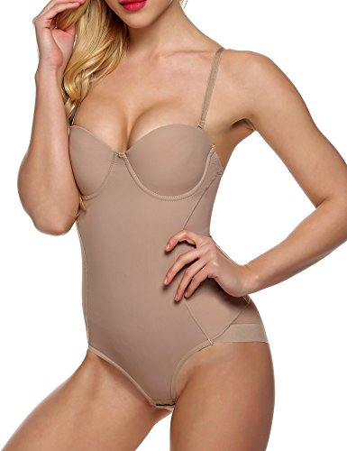 b640a5eff148e Ekouaer Women s Shapewear Body Briefer with Customizable Cups - Buy Online  in Oman.