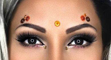 Autumn Jewels (Autumn Goddess - Eye Sticker Body Art Crystals - Rhinestones Face Jewel - Festival Gems Costume Accessory Unicorn - Forehead Jewelry (Autumn Goddess))