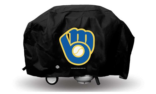 (MLB Deluxe Grill Cover MLB Team: Milwaukee Brewers)