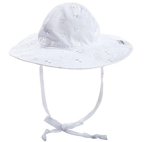 Floppy Hat | White Eyelet Medium