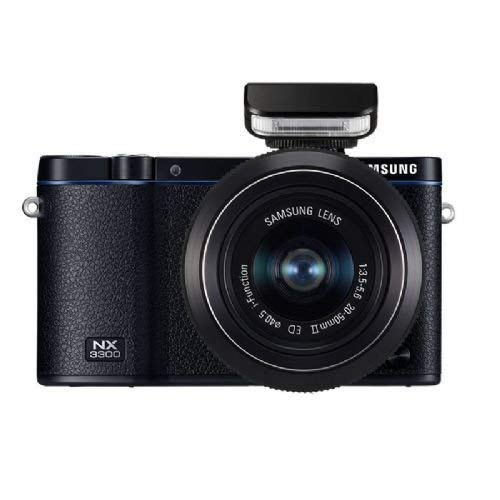 Samsung NX3300 Mirrorless Digital Camera with 20-50mm Lens - Black (Samsung Focus Flash Charger)