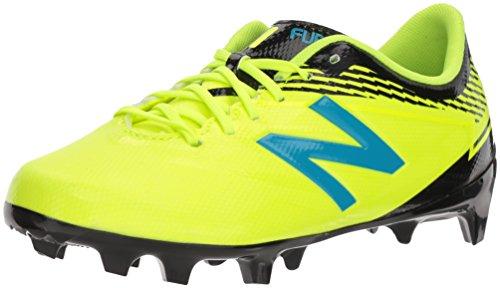 (New Balance Boys' Furon3.0 Dispatch JNR FG Soccer Shoe, hi lite/Maldives, 4 M US Big Kid)
