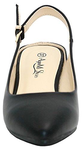 AgeeMi per Shoes Cinturino Scarpe Slingback Punta Caviglia Scarpe Scarpe Nero A Donna Danna rTOXxr