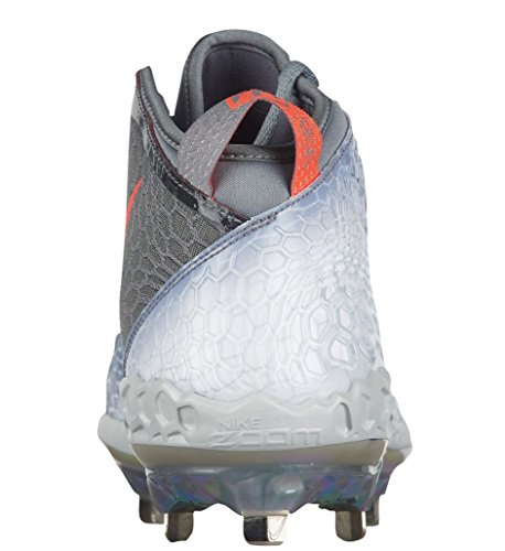 Nike Grey Men's Crimson Silver Trout Zoom Metallic Baseball cool Force Bright 5 Cleats CraRqCwp