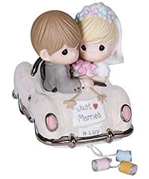 Precious Moments Wedding Figurine with Westbraid Doily Just Married Figure