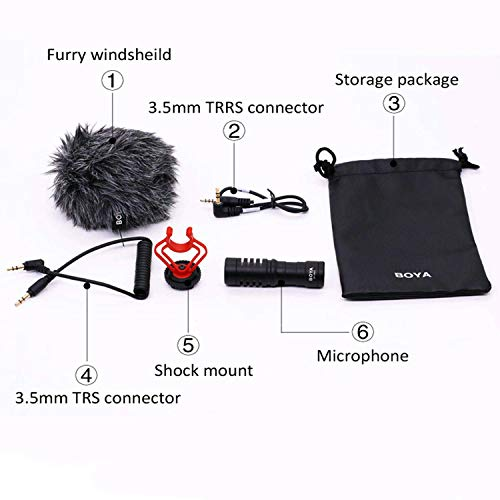 BOYA BY-MM1 Shotgun Video Microphone, Universal Compact On-Camera Mini Recording Mic, Directional Condenser for DSLR, Camcorder, iPhone, Android Smartphones, Mac, Tablet