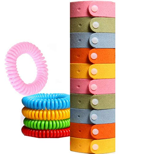Mosquito Repellent Bracelet - 15 PACK (240 Hrs of Total Protection) DEET FREE , Non-Toxic, Waterproof , Mosquito Repellent with Maximum Protection Insect Repellent Bracelets for Kids, Adults & Pets