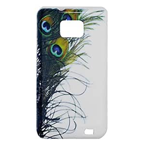 CeeMart Peacock Feather Pattern TPU Soft Case for Samsung S2 i9100 by ruishername