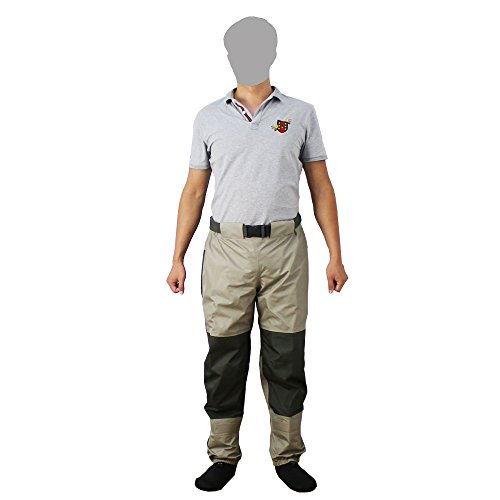 Kylebooker Fly Fishing Waders Pant Durable Weatherproof Wading Pants with Tricot Fabric Trousers KB003