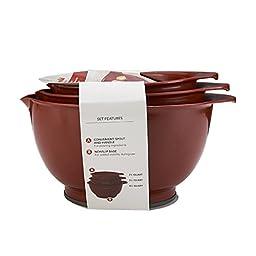 KitchenAid 3-Piece Mixing Bowl Set, Red