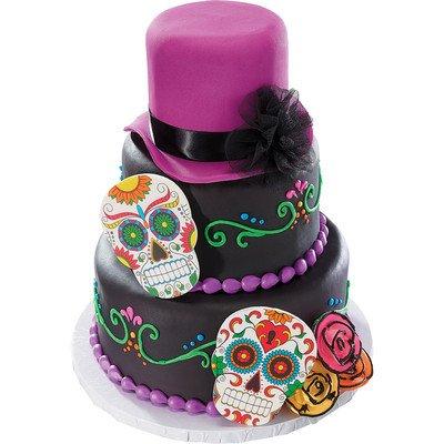 Dia De Los Muertos Skull Gum Paste Ornament - Cake Topper - 1 (Cake Ornaments Decorations)
