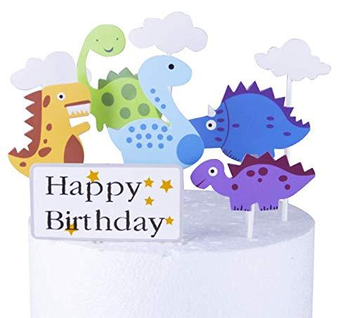 Decoración para tarta de cumpleaños, diseño de dinosaurio ...