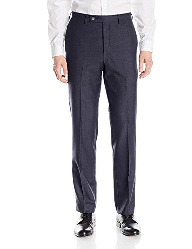 (Calvin Klein X-Treme Slim Fit Dress Pants for Men Flat Front Trousers (38W x 34L, Navy))