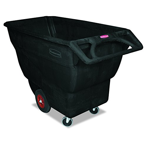 Rubbermaid Commercial FG101300BLA HDPE Box Cart with Steering Wheel, 1000-Pound Capacity, - Cart Black Capacity