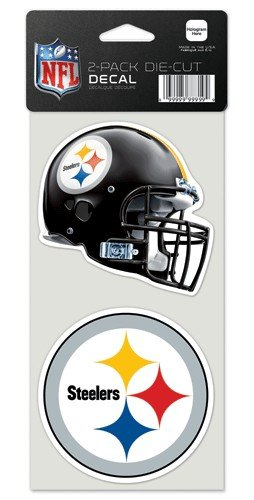 NFL Pittsburgh Steelers Perfect Cut Decal (Set of 2), 4