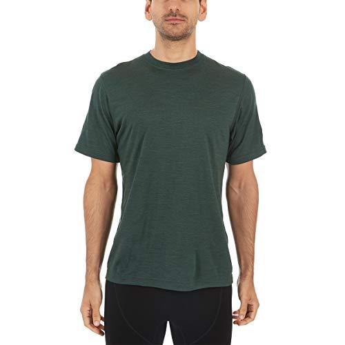 Minus33 Merino Wool Men's Algonquin Lightweight Short Sleeve Crew, Forest Green Heather, Large (Best T Shirt Brands In India)