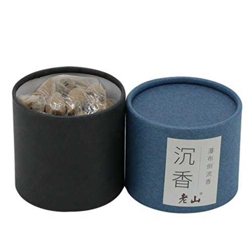 Backflow Cone Incense-100g Natural Agarwood Cone Incense Waterfall Incense Backflow Incense(BLUE)