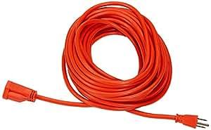 AmazonBasics 16/3 Vinyl Outdoor Extension Cord - 50 Feet (Orange)