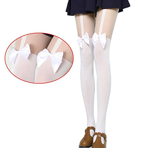OVERMAL-Vintage-Tights-Bow-Pantyhose-Tattoo-Mock-Bow-Suspender-Sheer-Stockings