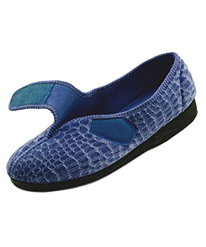 Adjustable Comfort Disabled House Closures Navy Womens Slippers Womens Wide Slippers Silverts Elderly Needs 4Rxwqnavvd
