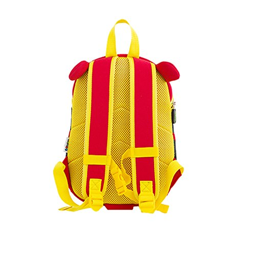 YISIBO Waterproof Kids Backpack 3D Cute Zoo Cartoon Toddler Sidesick Bags Boyrs ­ (Tiger Red)