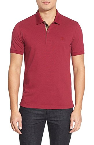 BURBERRY - Men's Polo OXFORD - Red (Military Red), XL by BURBERRY