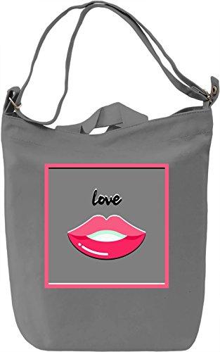 Love Borsa Giornaliera Canvas Canvas Day Bag| 100% Premium Cotton Canvas| DTG Printing|