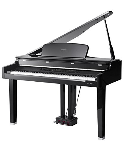 Kurzweil MPG200 88-Key Mini-Grand Piano with Fatar Action Keys, Black Polish by Kurzweil