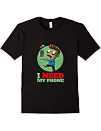 Phone Zombie I Need My Phone Cute & Funny T-Shirt