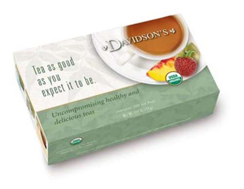 Davidson's Tea Bags, Organic South African Green Rooibos, 100 Count