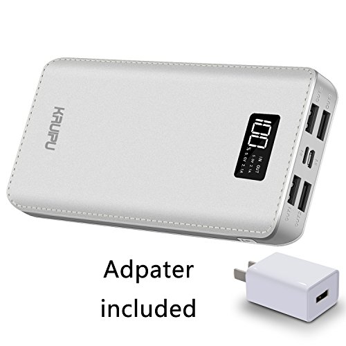 External Portable Power Adapter (Portable Charger Power Bank 24000mAh 4 OutPut Ports Huge Capacity Battery Pack With AC Power Adapter For iPhone, iPad, Samsung Galaxy, Android and other Smart Devices)