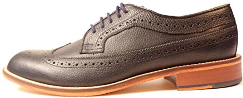 Hw Trickett Made In Inghilterra Scarpe Da Uomo Brogue In Pelle Nera Windsor