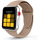 iYou Sport Band for Apple Watch Band, Soft Silicone Replacement Wristband Classic Sport Strap for iWatch 2017 Apple Watch Series 3/2/1, Edition, Nike+, All Models (42MM M/L, Walnut)