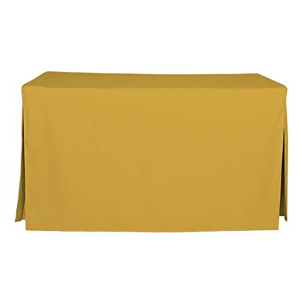 5 Foot Tablecloth, Fitted Folding Table Cover, Tablevogue, Mimosa
