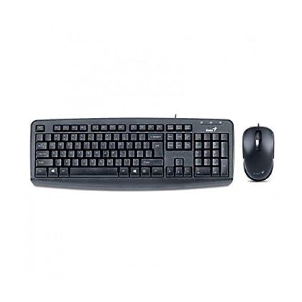 Genius KM-130 - Teclado + ratón USB, Color Negro