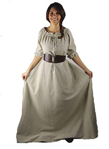 Marktkleid Kurzarmkleid Kurzarmkleid Mittelalter Josefine Josefine Marktkleid Natur Mittelalter I4vqIfPw