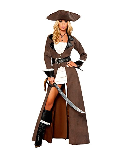 Deluxe Pirate Captain Adult Costume - Medium ()