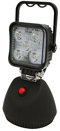 ECCO Work Light 12/24V LED 600 Lumens White Flood Magentic Base Comes with A/C & D/C Chargers by Servicemate