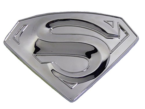 Rebel Flag Belt Buckle (Classic New Silver Superman Superhero Western Mens Metal Belt Buckle Leather)
