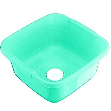 11 Litre Large Plastic Washing Basin WITH PLUG Inset Sink Wash Washing Up  Bowl (Green