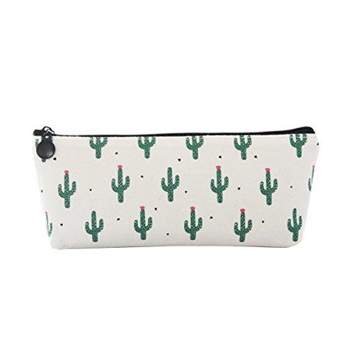 Evilandat Kaktus Muster Bleistift Tasche Federmäppchen Kosmetiktaschen Kulturbeutel Handytasche, Geschenk Für Geburtstag Schulbeginn Und Weihnachten Viel Kaktus Muster