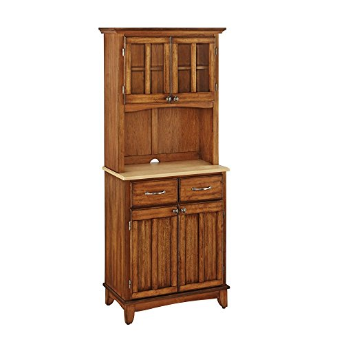 Home Styles Small Wood Bakers Rack with Two Door (Bakers Rack Hutch)