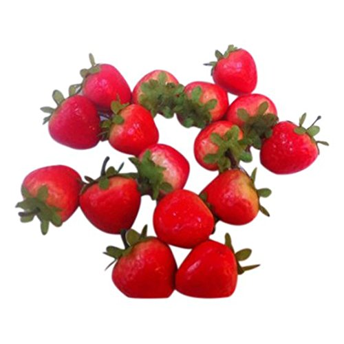 TOOGOO(R) 20 Artificial Ornament Red Strawberry-Fake Fruit
