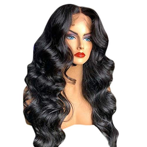 Hair Wig Natural,FAPIZI 13x6 Lace Front Human Hair Wigs Pre Plucked with Baby Hair Curly Brazilian Remy Hair Wig Black by FAPIZI Women Wig (Image #3)