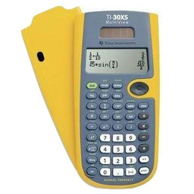 TI-30XS MultiView EZ Spot Calculator. The teacher kit contains 10 EZ Spot Calculators 1 storage caddy